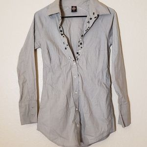 Free people Half Button Down
